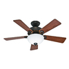 Hunter 44-in Ridgefield Bowl Five Minute New Bronze Ceiling Fan Light Kit