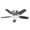 Hunter Louden 46-in Brushed Nickel Flush Mount Indoor Ceiling Fan with Light Kit
