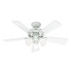 Hunter Ridgefield Ii 44-in Downrod Mount Indoor Ceiling Fan with Light Kit