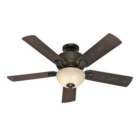 Hunter Gulf Winds Outdoor 52-in Mystique Black Multi-Position Ceiling Fan with Light Kit