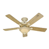 Hunter 52-in Lake Cottage Ii Harvest Wheat Indoor Ceiling Fan Included 5 Na
