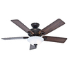 Hunter The Kensington 52-in New Bronze Downrod or Close Mount Indoor Ceiling Fan with Light Kit