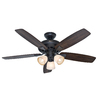 Hunter 52-in Winslow New Bronze Ceiling Fan