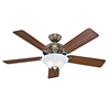 Hunter The Brookline 52-in Antique Brass Downrod or Close Mount Indoor Ceiling Fan with Light Kit