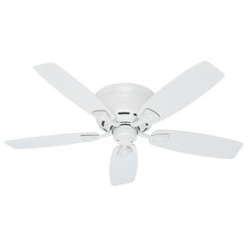 Hunter Sea Wind® 48-in White Flush Mount Indoor/Outdoor Ceiling Fan