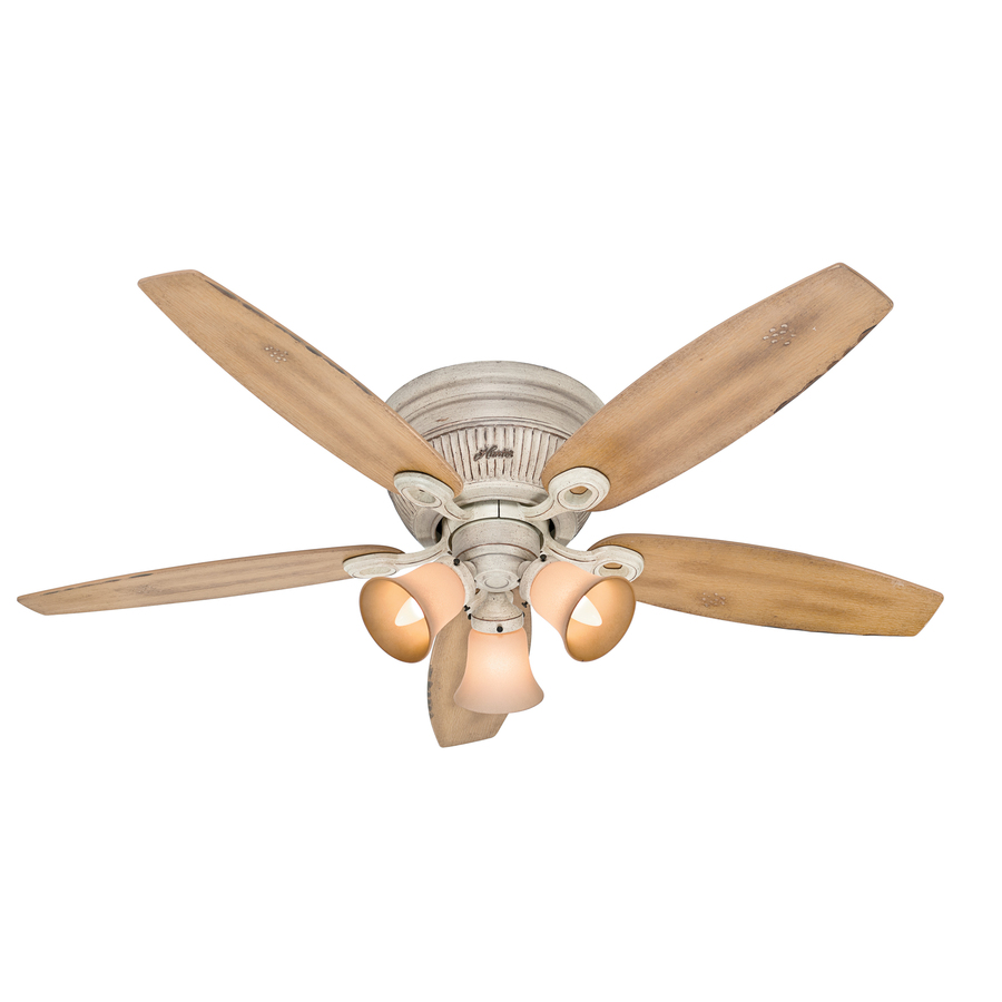 in burnished creme flush mount ceiling fan with light kit at. Black Bedroom Furniture Sets. Home Design Ideas
