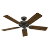 Hunter Westminster 5 Minute Fan 52-in New Bronze Downrod or Close Mount Indoor Ceiling Fan with Light Kit