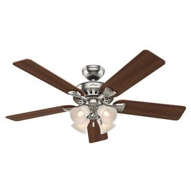 Hunter Westminster 5 Minute Fan 52-in Brushed Nickel Downrod or Close Mount Indoor Ceiling Fan with Light Kit