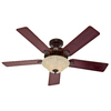 Hunter 52-in Waldon Five Minute Fan Onyx Bengal Bronze Ceiling Fan