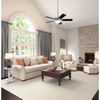 Hunter Waldon 5 Minute Fan 52-in Brushed Nickel Downrod or Close Mount Indoor Ceiling Fan with Light Kit