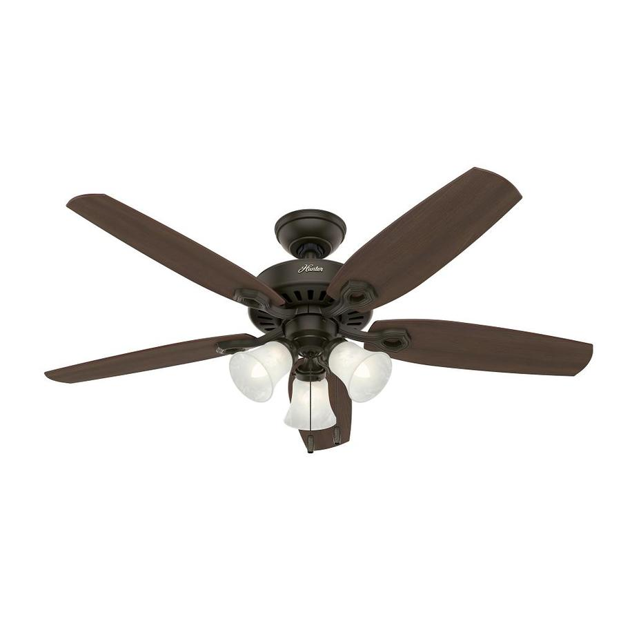 Shop hunter builder plus 52 in new bronze downrod or flush Ceiling fans no light