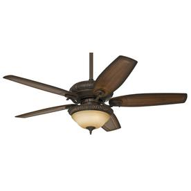 Hunter Claymore 54-in Brushed Cocoa Downrod or Close Mount Indoor Ceiling Fan with Light Kit