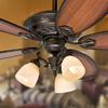 Prestige by Hunter Crown Park 54-in Tuscan Gold Downrod or Close Mount Indoor Ceiling Fan with Light Kit