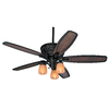 Hunter Willowcrest 54-in Brittany Bronze Downrod or Close Mount Indoor Ceiling Fan with Light Kit