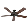 Hunter The Royal Oak 60-in Downrod or Close Mount Indoor Ceiling Fan with Remote (5-Blade) ENERGY STAR