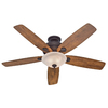 Hunter Regalia 60-in Downrod or Close Mount Indoor Ceiling Fan with Light Kit (5-Blade)