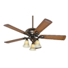 Prestige by Hunter Whitten 52-in Bronze Patina Downrod or Flush Mount Ceiling Fan with Light Kit