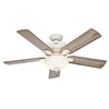 Hunter Matheston 52-in Downrod or Close Mount Indoor/Outdoor Ceiling Fan with Light Kit (5-Blade)