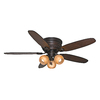 Casablanca CaLEDonia 54-in Flush Mount Indoor Ceiling Fan with Light Kit
