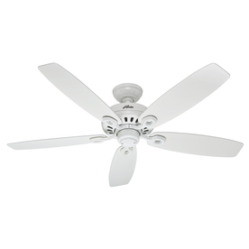 Hunter Markham 52-in Snow White Downrod or Close Mount Indoor Ceiling Fan ENERGY STAR