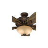 Hunter Castleton 70-in Northern Sienna Downrod or Close Mount Indoor Ceiling Fan with Light Kit