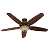 Hunter 70-in Castleton Northern Sienna Ceiling Fan with Light Kit