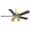 Casablanca Panama Gallery 54-in Downrod or Close Mount Indoor/Outdoor Ceiling Fan with Light Kit and Remote (5-Blade)