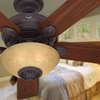 Hunter Westover Four Seasons Heater 52-in New Bronze Downrod or Close Mount Indoor Ceiling Fan with Light Kit and Remote