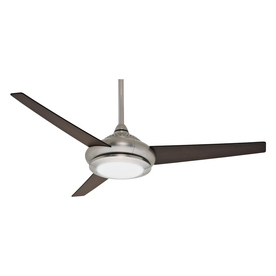 Casablanca Tercera 52-in Brushed Nickel Downrod Mount Indoor Ceiling Fan with Light Kit and Remote (3-Blade)