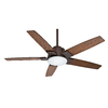 Casablanca Zudio 56-in Downrod or Close Mount Indoor Ceiling Fan with LED Light Kit and Remote ENERGY STAR