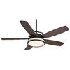 Casablanca Caneel Bay 56-in Maiden Bronze Downrod Mount Indoor/Outdoor Ceiling Fan with Light Kit and Remote