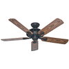 Hunter The Mariner™ 52-in New Bronze Downrod or Close Mount Indoor/Outdoor Ceiling Fan ENERGY STAR