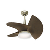 Casablanca Orchid 30-in Pewter Revival Downrod Mount Indoor/Outdoor Ceiling Fan with LED Light Kit and Remote (3-Blade)