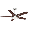 Casablanca Correne 56-in Brushed Nickel Downrod or Close Mount Indoor Ceiling Fan with LED Light Kit and Remote ENERGY STAR