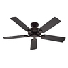 Hunter 5 Minute Fan Outdoor 52-in New Bronze Downrod or Close Mount Indoor/Outdoor Ceiling Fan