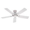 Hunter 5 Minute Fan Outdoor 52-in White Downrod or Close Mount Indoor/Outdoor Ceiling Fan