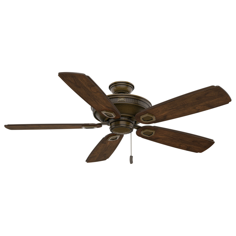 Shop Casablanca Heritage 60 In Aged Bronze Outdoor Downrod Or Flush Mount Ceiling Fan Energy