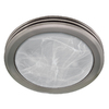 Harbor Breeze 2-Sone 80 CFM Nickel Bathroom Fan with Light