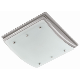 Harbor Breeze 2-Sone 100-CFM Nickel Bathroom Fan with Light