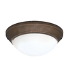 Casablanca 2-Light Aged Bronze Incandescent Ceiling Fan Light Kit with Frosted Glass