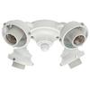 Hunter 4-Light White Fluorescent Ceiling Fan Light Kit