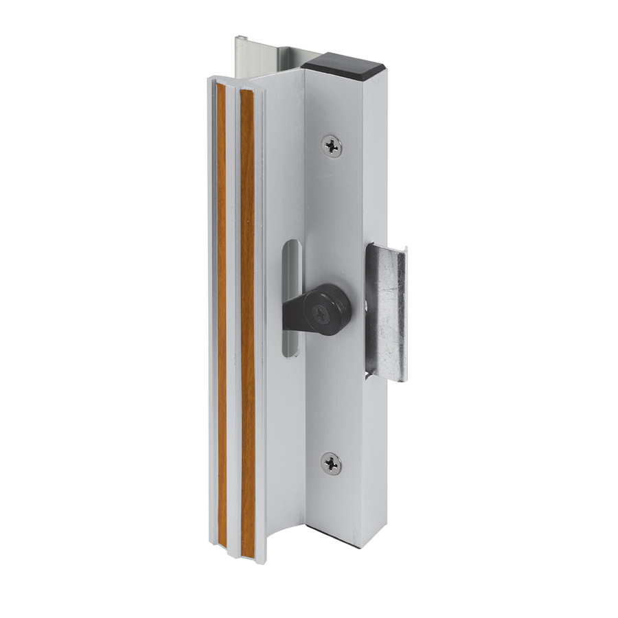 vertical lock rods and top latch mechanism are concealed in the door