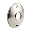 Gatehouse Door Knob Rosettes, 2-1/2 in., Steel, Satin Nickel Plated