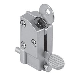 Gatehouse Step-On Keyed Aluminum Finish Sliding Patio Door Cylinder Lock