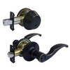 Gatehouse Newbury Aged Bronze Residential Keyed Entry Door Lever