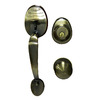 Gatehouse Lexington Antique Brass Single-Lock Keyed Entry Door Handleset