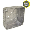 Raco 2-Gang Gray Metal Interior New Work/Old Work Standard Square Celing/Wall Electrical Box