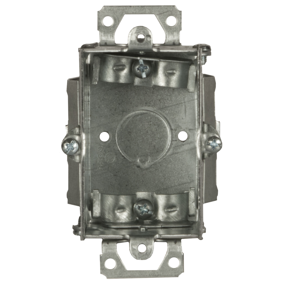 Low Voltage Switch Box : Shop raco cu in gang metal switch low voltage wall