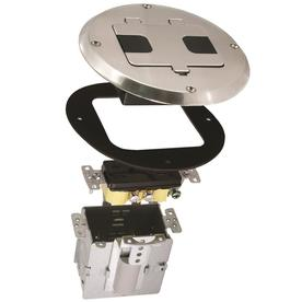 Raco 125-Volt 15-Amp Nickel Decorator Duplex Electrical Outlet