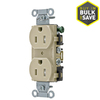 Hubbell 125-Volt 15 Amp Duplex Electrical Outlet